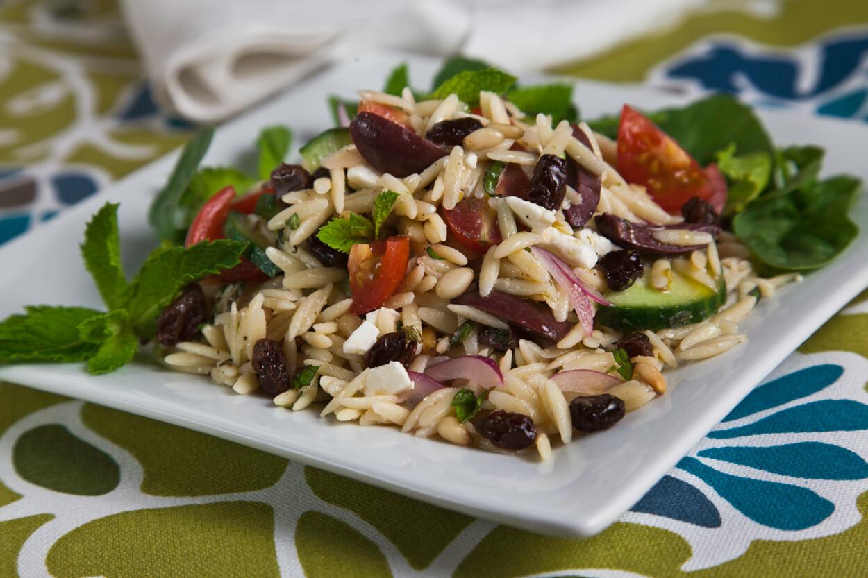 Greek Style Orzo Salad