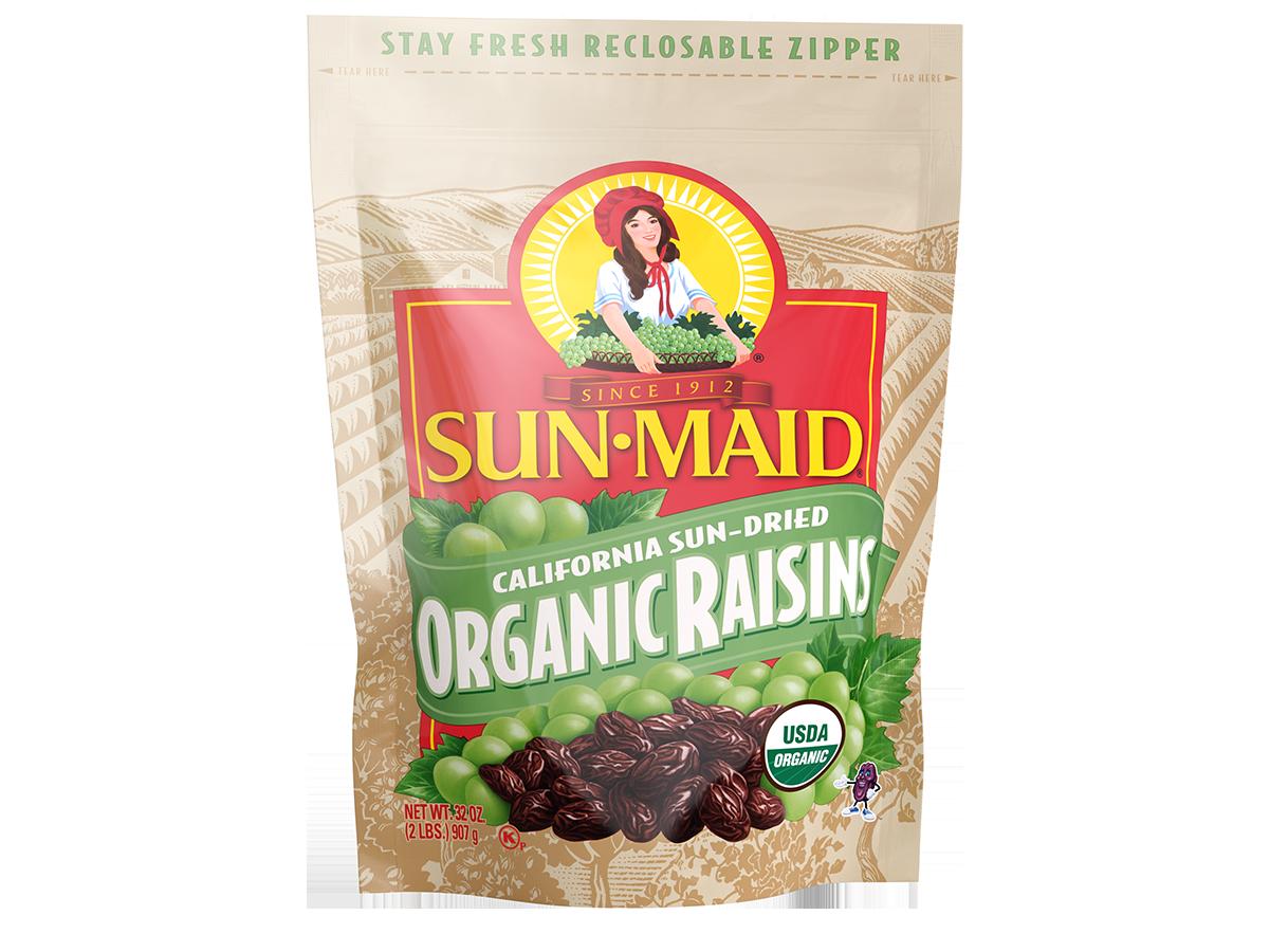 Sun-Maid California Sun-Dried Organic Raisins 32 oz. bag