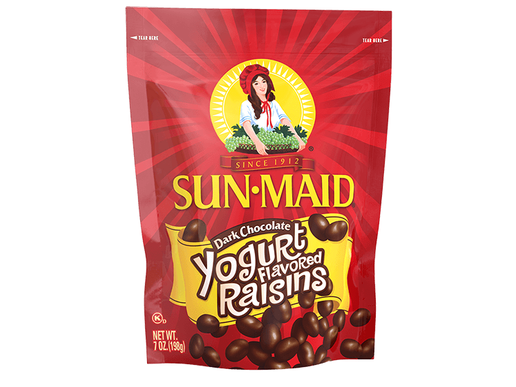 Sun-Maid Dark Chocolate Yogurt Flavored Raisins 7 oz. bag