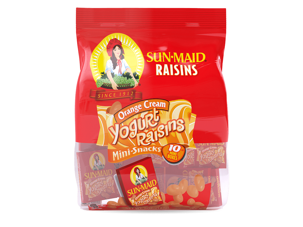 Sun-Maid Orange Cream Yogurt Raisins Mini-Snacks (10 pack)