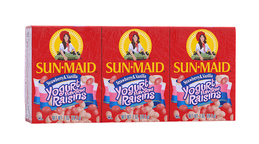 Sun-Maid Strawberry and Vanilla Yogurt Flavored Raisins 1 oz. boxes (pack of 6)