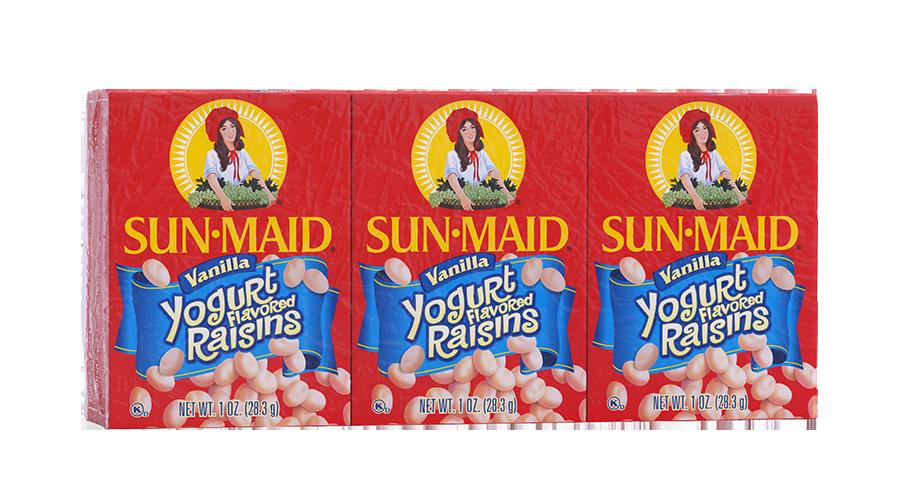 Sun-Maid Vanilla Yogurt Flavored Raisins 1 oz. boxes (pack of 6)