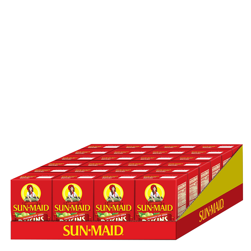 Sun-Maid California Sun-Dried Raisins 24 count 12 oz. boxes