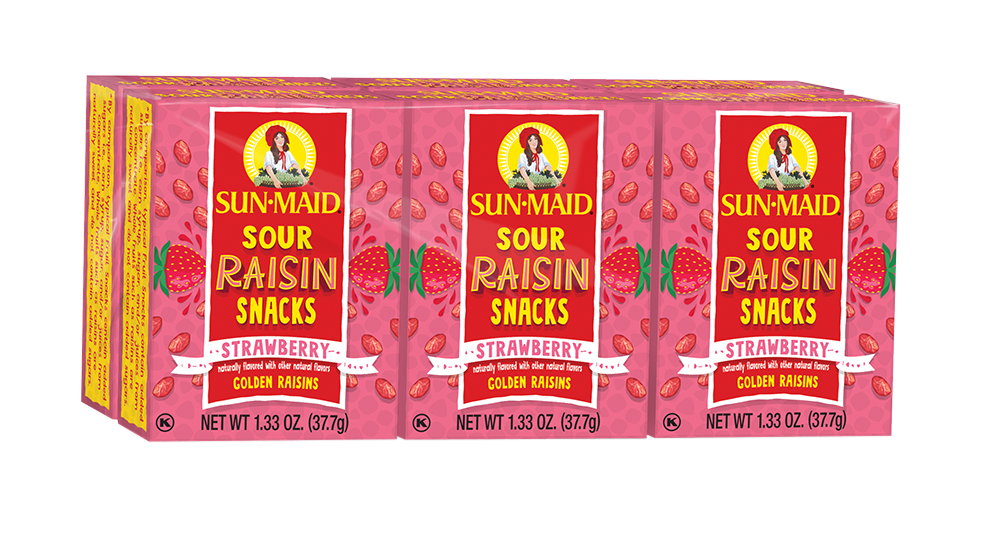 Strawberry Sour Raisin Snacks - 6 pack