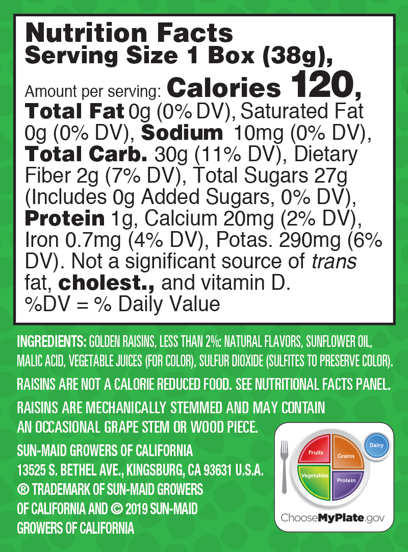 Watermelon Sour Raisin Snacks nutrition facts