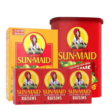 Raisin products lineup