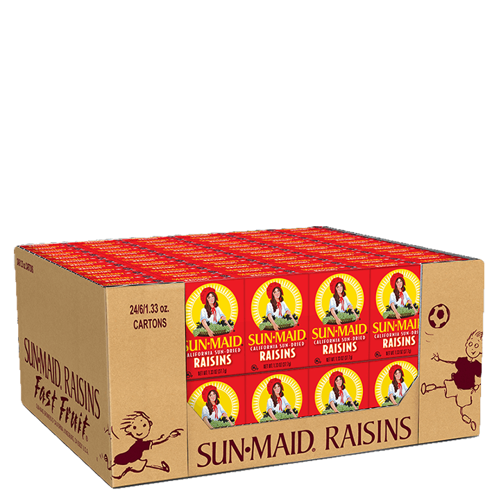 Sun-Maid California Sun-Dried Raisins 144 count 1.33 oz. boxes