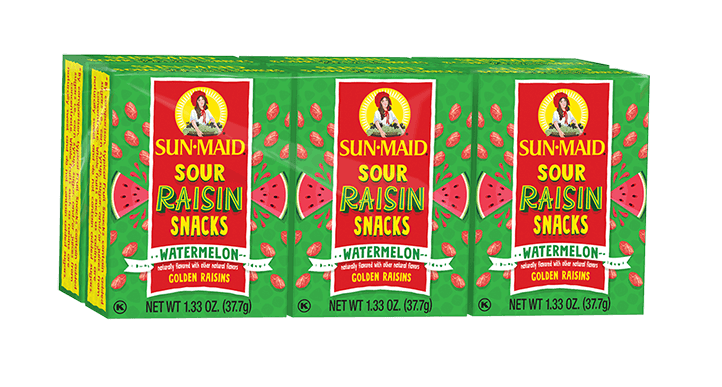 Watermelon Sour Raisin Snacks - 6 pack