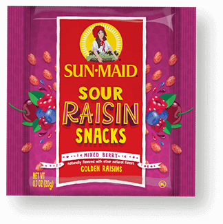 Sun-Maid Mixed Berry Sour Raisin Snacks 0.7 oz. pouch
