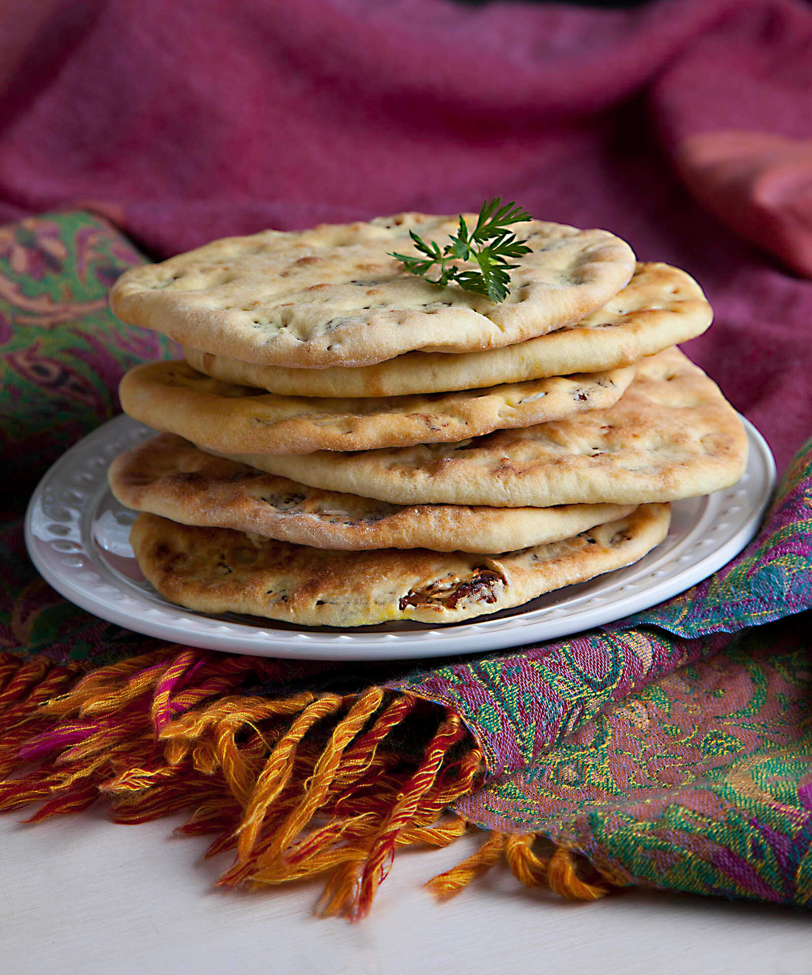 Golden Raisin Naan Bread