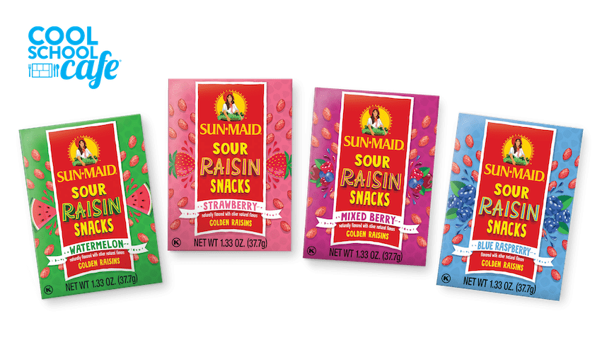 Cool School Cafe Sour Raisin Snack Boxes